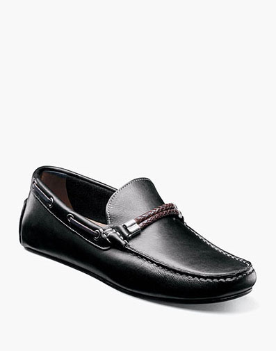 Comet  Moc Toe Woven Bit Loafer in Black for $139.90