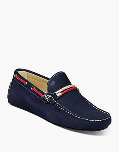 Comet  Moc Toe Woven Bit Loafer in Indigo for $139.90