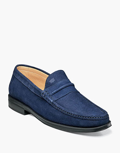 Palace Moc Toe Strap Loafer in Indigo for 175.00 dollars.