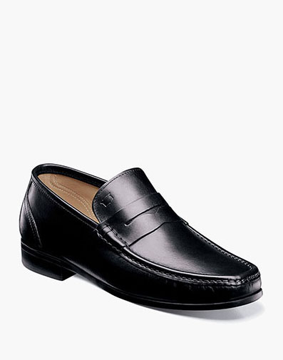Puente Moc Toe Penny Loafer in Black for 175.00 dollars.