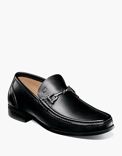 Puente Moc Toe Bit Loafer in Black for 175.00 dollars.