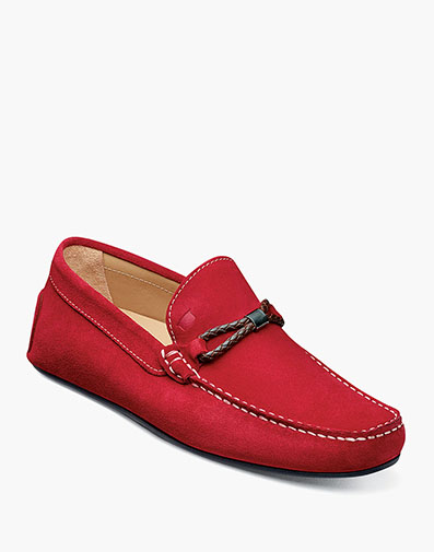 Comet Woven Bit Loafer in Red for $139.90