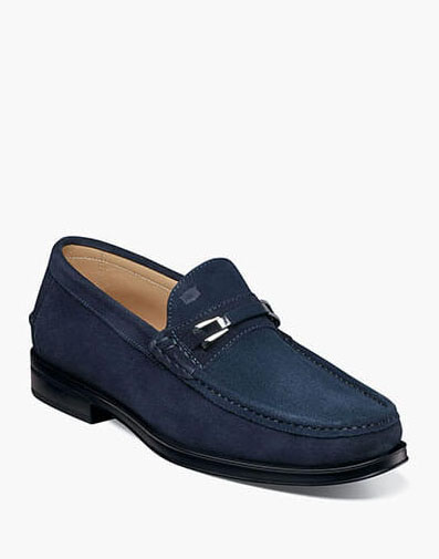 Palace Moc Toe Bit Loafer in Indigo for 175.00 dollars.