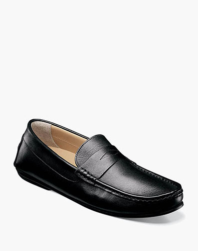 Fuego Moc Toe Penny Loafer in Black for $175.00
