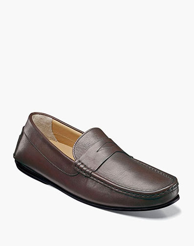 Fuego Moc Toe Penny Loafer in Brown for $175.00