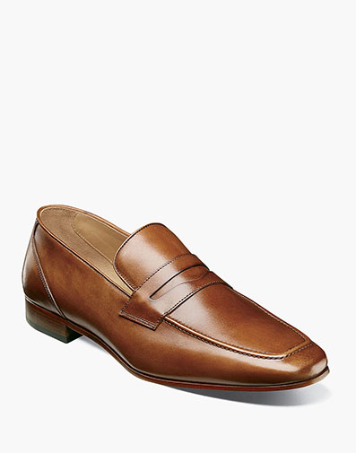 Hotter Moc Toe Penny Loafer in Brown for 195.00 dollars.