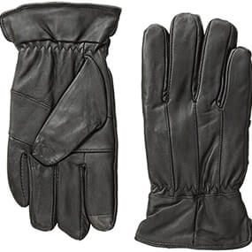 Lined Work Gloves Genuine Leather Gloves in Black for $36.00