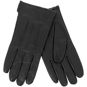 Lined Winter Gloves Genuine Leather  in Black for $45.00