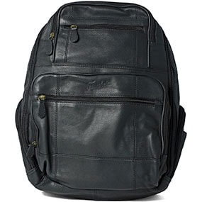 Baptiste Leather Backpack in Black for $240.00