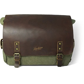 Murati Canvas/Leather Messenger Bag in Olive for $120.00