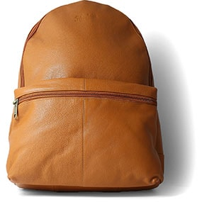 Giotto Glazed Pebble Grain Backpack in Tan for $150.00