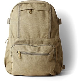 Enzo Canvas Backpack in Khaki for $50.00