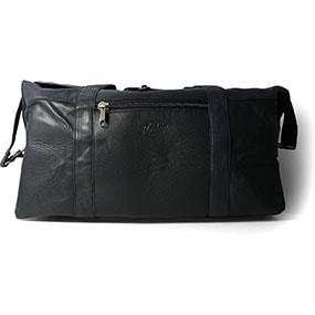 Rhyskender Havana Cow Leather Weekend Bag in Black for $350.00