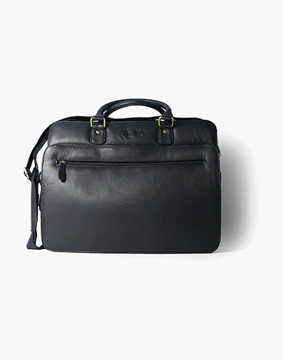 Marieke Vachetta Leather Briefcase in Black for $225.00