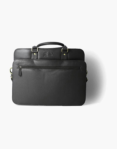 Marieke Vachetta Leather Briefcase in Brown for $225.00