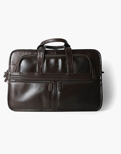 Dakota  Leather Briefcase in Brown for $325.00