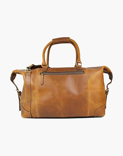 Akalin Buffalo Leather Duffel Bag in Cognac for $390.00
