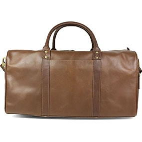 Boztepe Genuine Leather Duffel Bag in Brown for $390.00