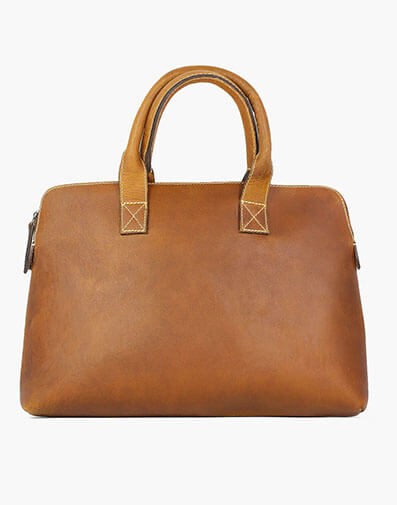 Cavus Hard Waxed Leather Bag in Cognac for $145.00