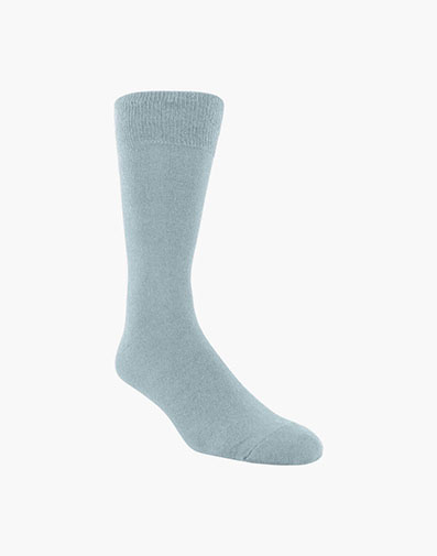 Flat Knit Men's Crew Dress Socks in Light Gray for 9.00 dollars.