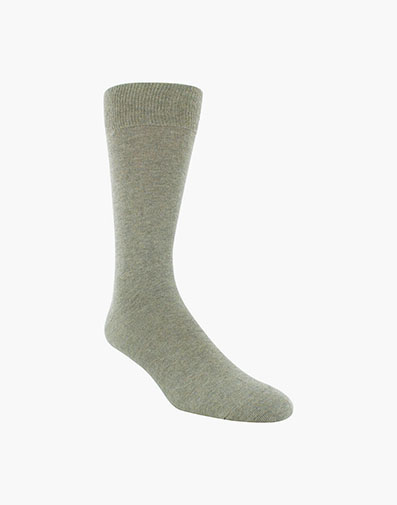 Flat Knit Men's Crew Dress Socks in Sand for 9.00 dollars.