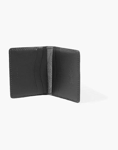 Minimal Bifold Wallet Made in USA in Black for $80.00