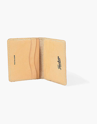 Minimal Bifold Wallet Made in USA in Natural for $80.00