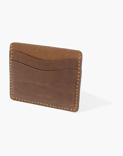 Card Holder Made in USA in Cognac for $60.00