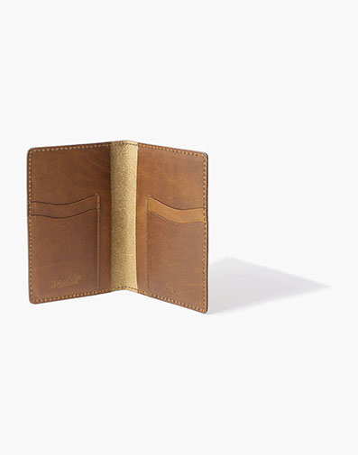 Travel / Passport Wallet Made in USA in Cognac for $100.00