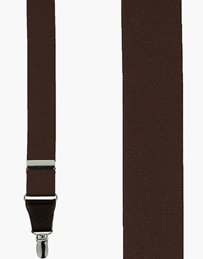 Clip Suspenders  in Brown for $36.00