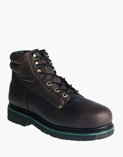 Utility Steel Toe Plain Toe Boot in Brown for 157.00 dollars.