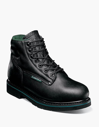 Utility  Plain Toe Boot in Black for $175.00