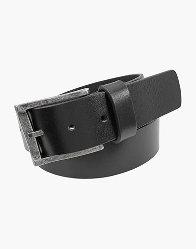 Albert Casual Genuine Leather Belt in Black for 65.00 dollars.