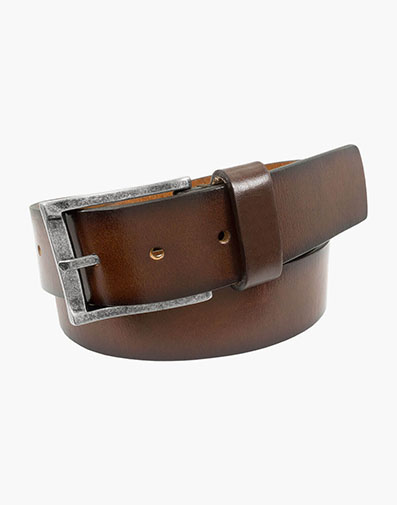 Albert Casual Genuine Leather Belt in Brown / Cherry for 65.00 dollars.