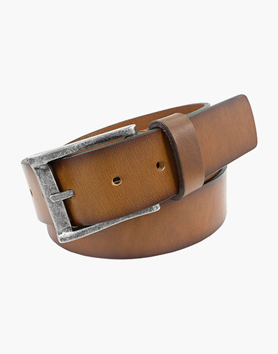 Albert XL Casual Genuine Leather Belt in Cognac for 75.00 dollars.