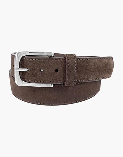Ramirez Genuine Suede Belt in Brown for 55.00 dollars.