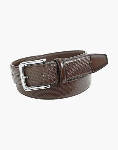 Marshall Embossed Weave Belt in Brown for $42.00