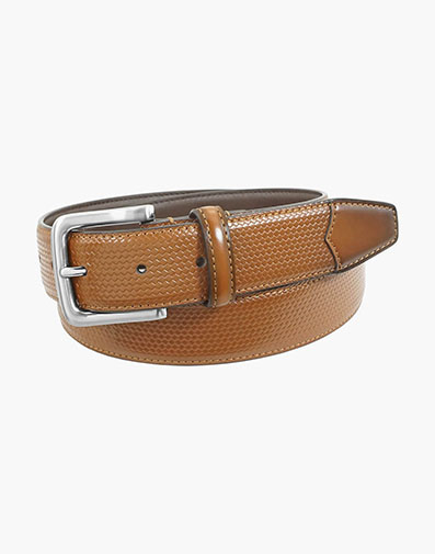 Marshall Embossed Weave Belt in Cognac for $42.00