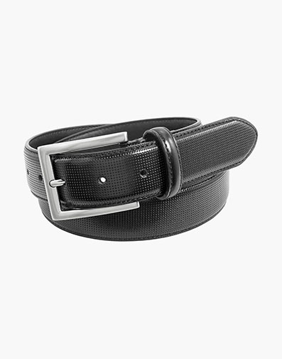 Sinclair Perf Leather Belt in Black for 42.00 dollars.