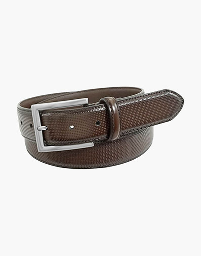 Sinclair Perf Leather Belt in Brown for 42.00 dollars.