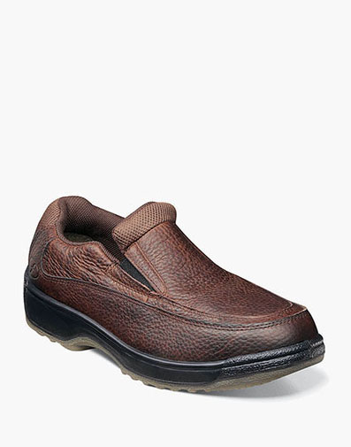 Lucky Composite Toe Steel Toe Moc Toe Slip On  in Brown for 146.00 dollars.